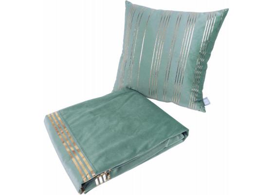 Набор подушка и плед Prisma 525 Mint/Gold