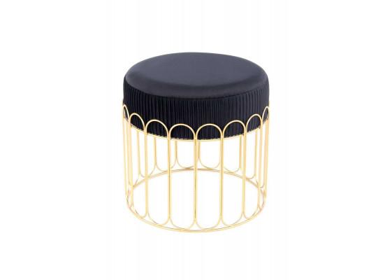 Табурет Drum T425 Black/Gold