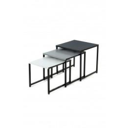 Набор столов Trio M110/3 Black/Grey/White