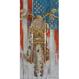 Фреска металлическая USA