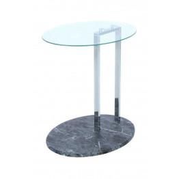 Стол Mark SM275 Clear/Chrome/Blackmarble