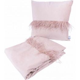 Набор подушка и плед Palmira Champagne