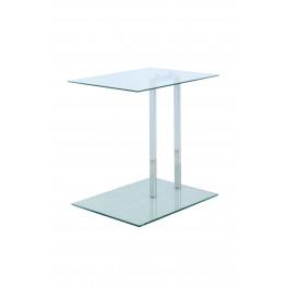 Стол Quadro SM125 Transparent/Chrom