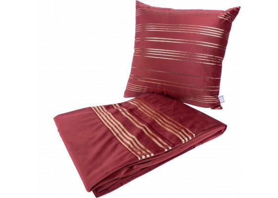 Набор подушка и плед Prisma 525 Red/Gold