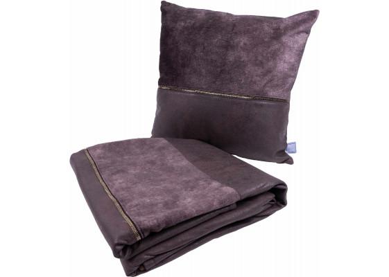Набор подушка и плед Picco Grey/Braun