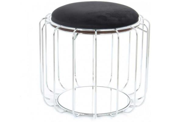 Табурет-стол Carl SM110 Black/Silver