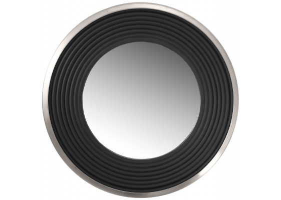 Настенное зеркало Round 725 Silver/Black Ø 38cm