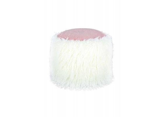 Пуф Lama T125 White/Pink