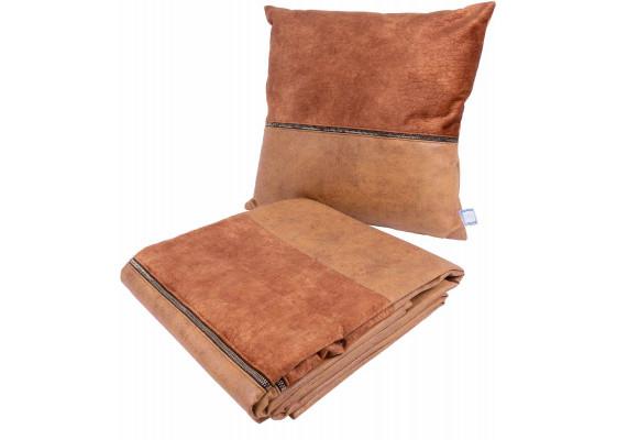 Набор подушка и плед Picco Terra/Coffee