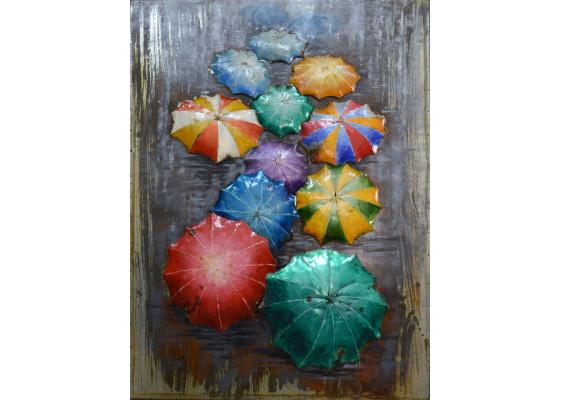 Фреска металлическая Umbrellas