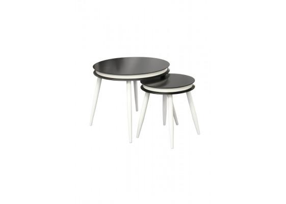 Набор столов Peel D110/2 Black/White