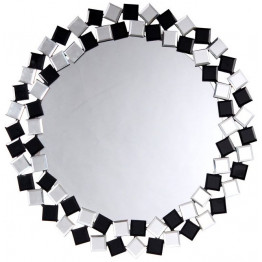 Настенное зеркало Laguna S1825 Silver/Black
