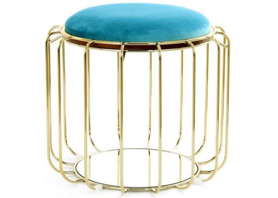 Табурет-стол Carl SM110 Turquoise/Gold