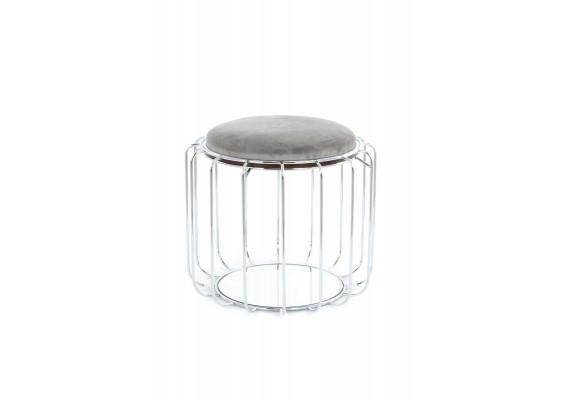 Табурет-стол Carl SM110 Grey/Silver