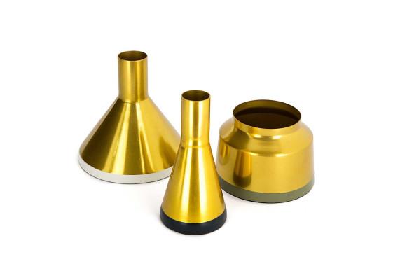 Набор ваз Tripsi M160/3 Gold/White/Green/Grey