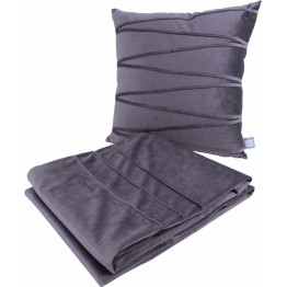 Набор подушка и плед Paulina 125 Graphit