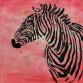Картина маслом Zebra