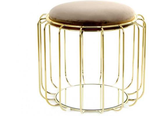 Табурет-стол Carl SM110 Greybrown/Gold
