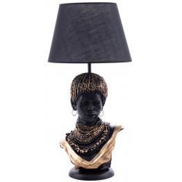 Настольная лампа African girl Black/Gold