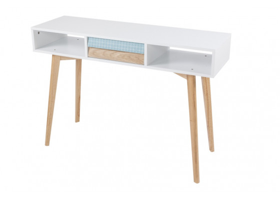 Консольный стол Gustavo D White/Blue/Natural