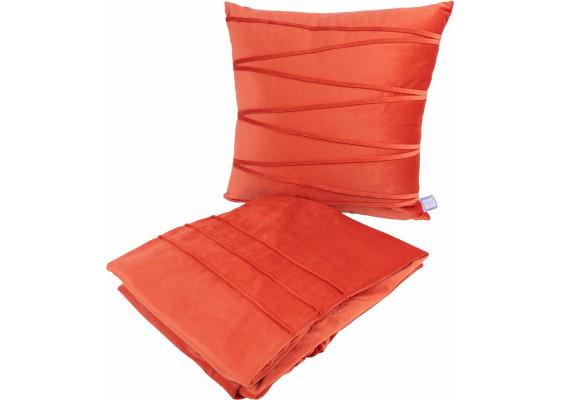 Набор подушка и плед Paulina 125 Orange