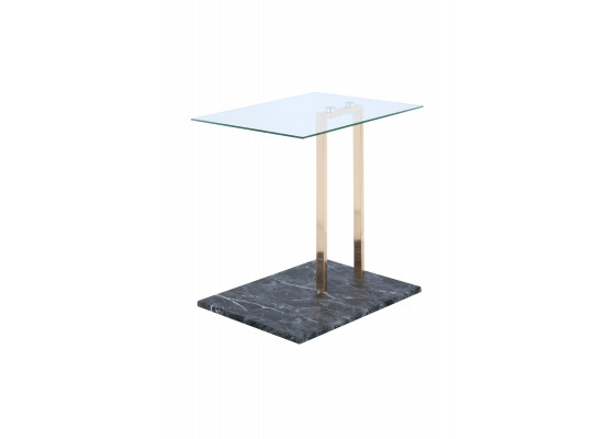 Стол Quadro SM225 Clear/Gold/Blackmarble
