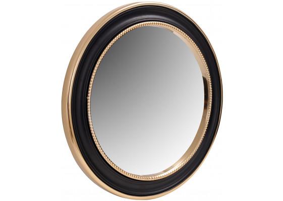 Настенное зеркало Round 625 Gold/Black Ø 58 cm
