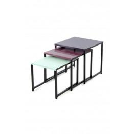 Набор столов Trio M110/3 Plum/Green