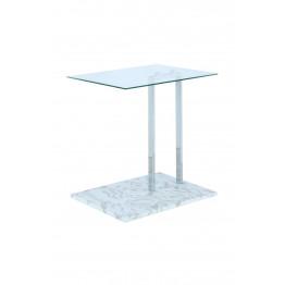 Стол Quadro SM225 Clear/Chrom/Whitemarble