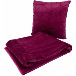Набор подушка и плед Paulina 225 Berry