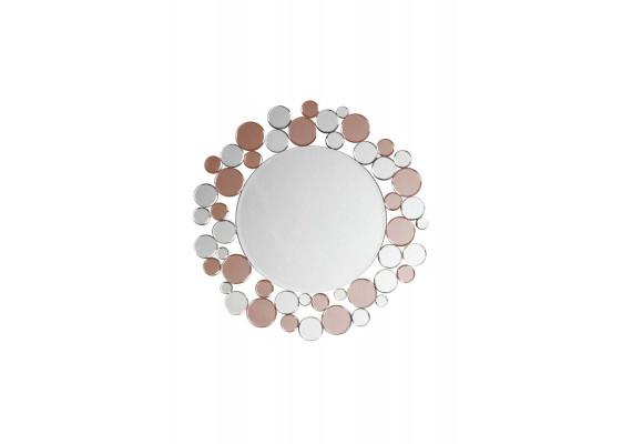 Настенное зеркало Chelsy SM1925 Silver/Pink
