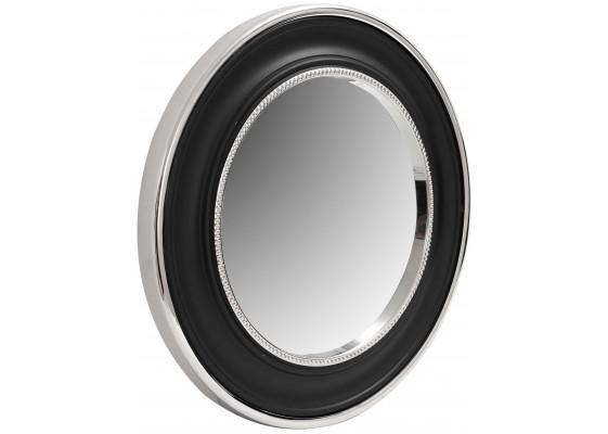 Настенное зеркало Round 525 Silver/Black Ø 45 cm