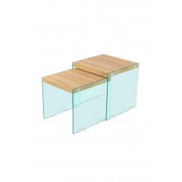 Набор столов Amer S110/2 Natural/Clear