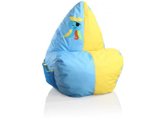 Кресло-мешок Happy Blue/Yellow
