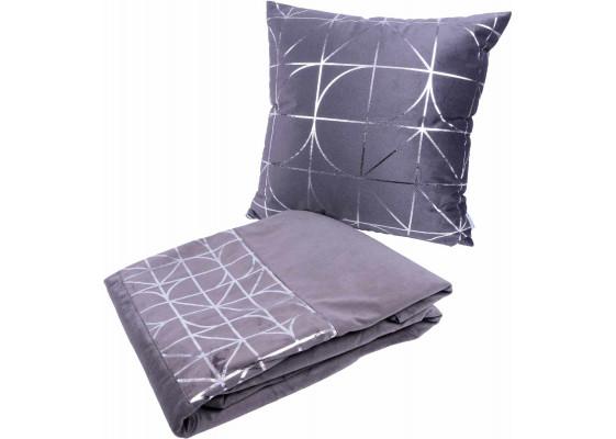 Набор подушка и плед Prisma 300 Graphit/Silver