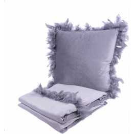 Набор подушка и плед Palmira Grey