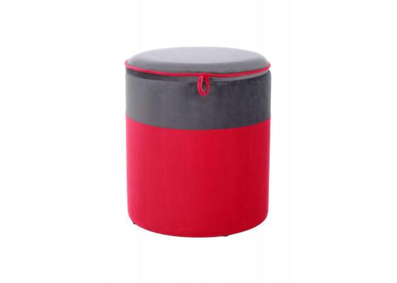 Пуф Aram T125 Red/Darkgrey