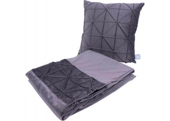 Набор подушка и плед Paulina 225 Graphit