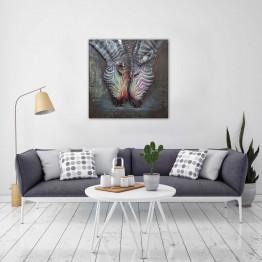 Фреска металлическая Zebras
