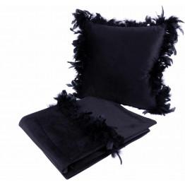 Набор подушка и плед Palmira Black