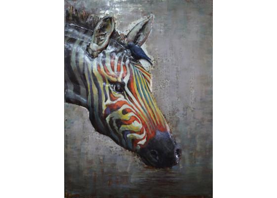Фреска металлическая Zebra