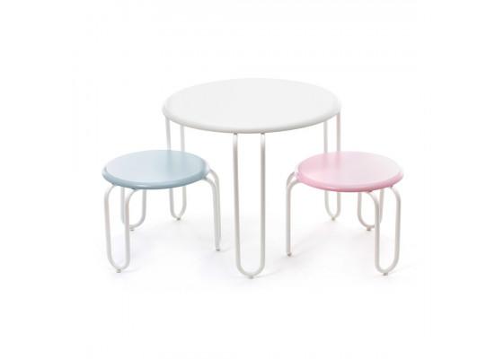 Набор детских стульев Milly DM White/Pastelpink/Pastelblue