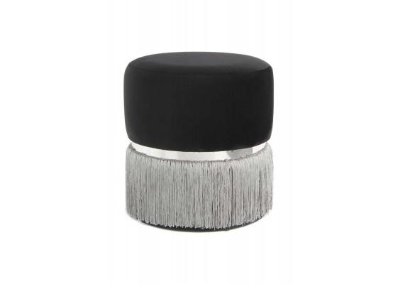 Пуф Milano T125 Black/Grey/Silver