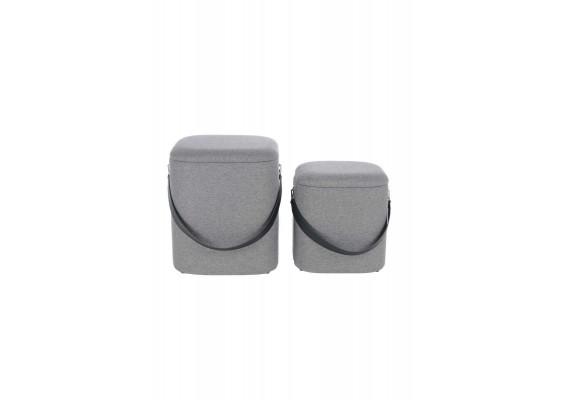 Набор пуфов Square T125/2 Grey/Black