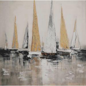 Картина Sailboats 100х100 cm