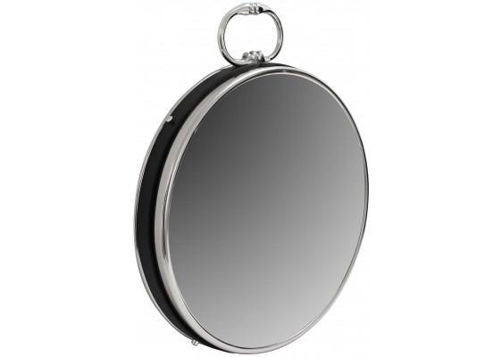 Настенное зеркало Round 925 Silver/Black Ø 41 cm