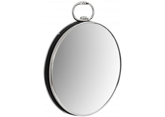 Настенное зеркало Round 425 Silver/Black 51 cm