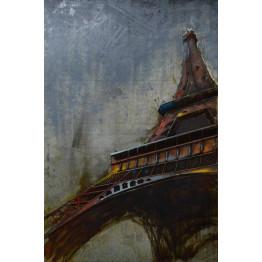 Фреска металлическая Eiffel Tower