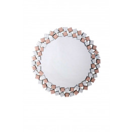 Настенное зеркало Laguna S1825 Silver/Pink