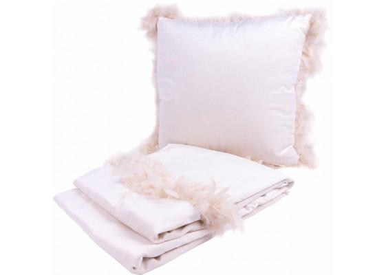 Набор подушка и плед Palmira White